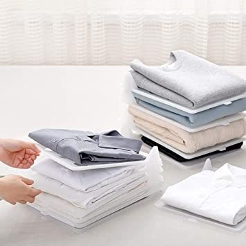 Lazy Clothes Folding Board T Shirt Folder Laundry Storage Rack Garment Organizer