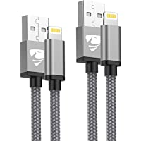 Aioneus Cable iPhone, Cable Cargador iPhone [2pack 1M 2M] Cable Lightning MFI Rápida Trenzado de Nylon Cargador iPhone…