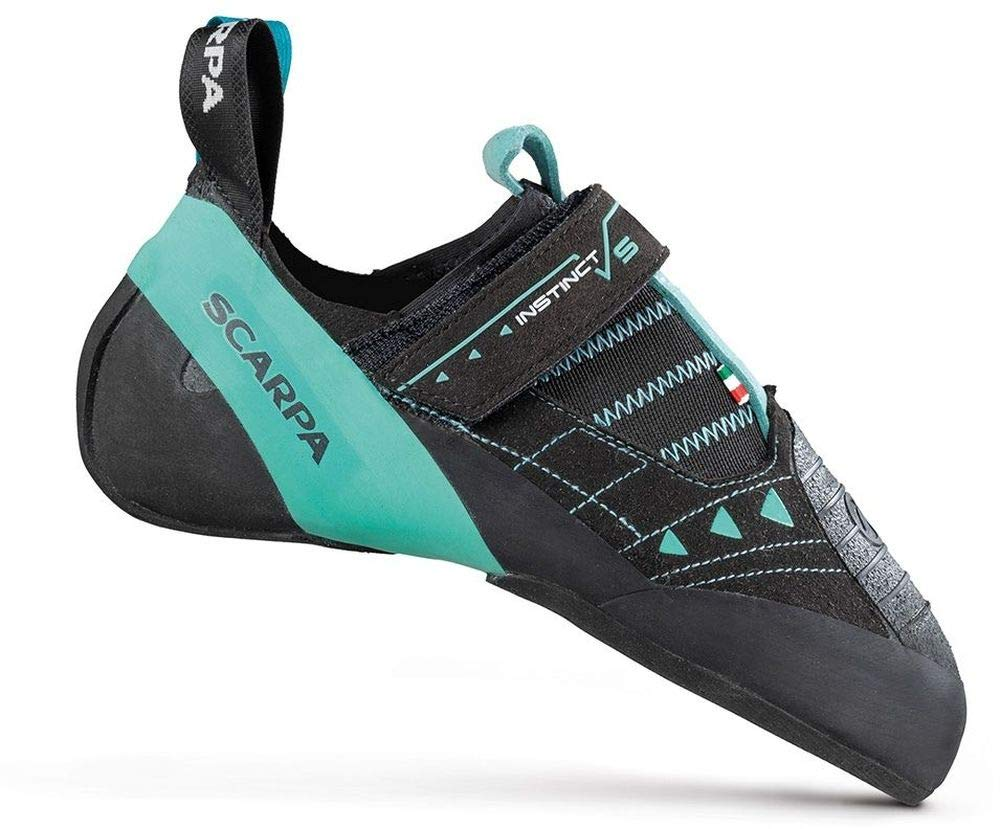 SCARPA Instinct VS Climbing Shoe - Women's Black/Aqua 38.5 by SCARPA