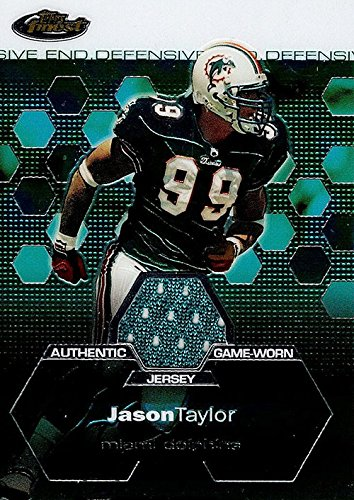 - Signed Taylor, Jason (Miami Dolphins) Jason Taylor 2003 Topps Finest Unsigned Football Jersey Insert Card. autographed