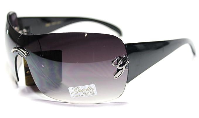 Amazon.com: Giselle negro escudo 03 Gafas de sol: Clothing