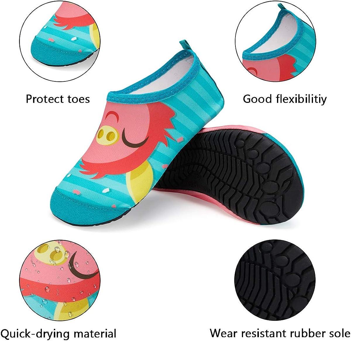Kyopp Water Shoes Kids Toddler Quick Dry Non-Slip Aqua Socks Girls Boys for Beach Swim Pool