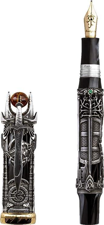 MONTEGRAPPA El Señor de los Anillos L.E. Pluma estilográfica, plata punta media: Amazon.es: Oficina y papelería
