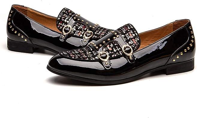 JITAI Luxury Men Shoes Black Loafers