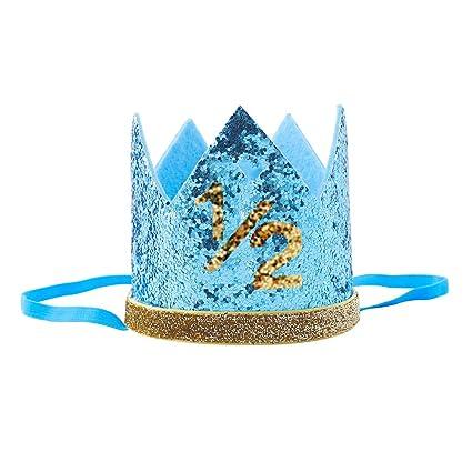 Amazon Finduat Baby Boy1 2 Birthday Crown Hat Boy Tiara Headbands Party For 6 Month Supplies Home Kitchen