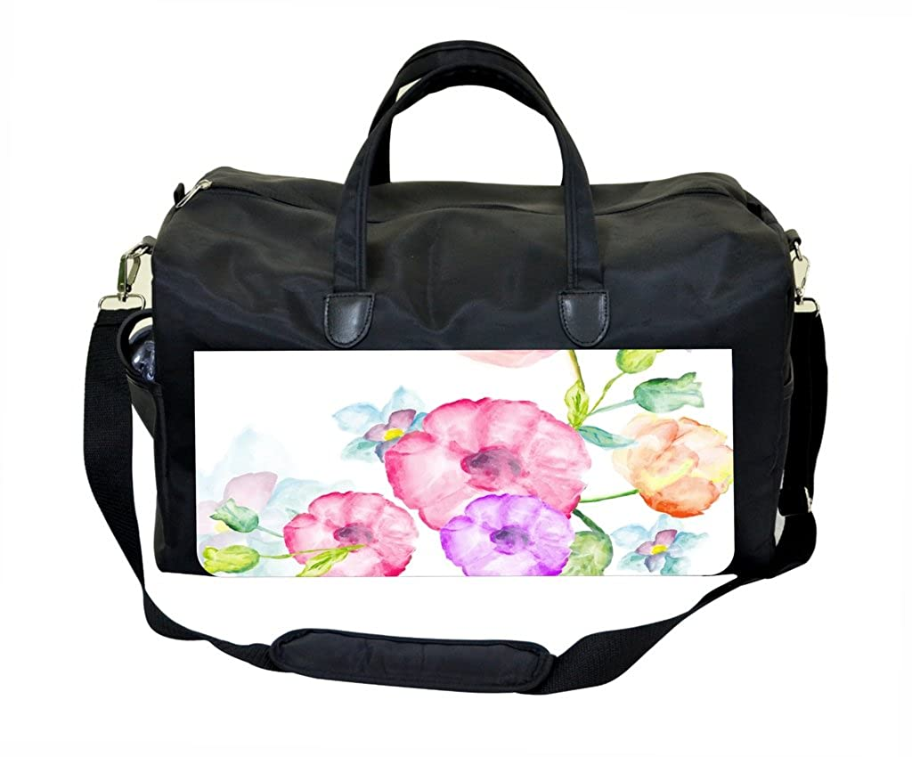 01-Watercolor Florals Weekender Bag