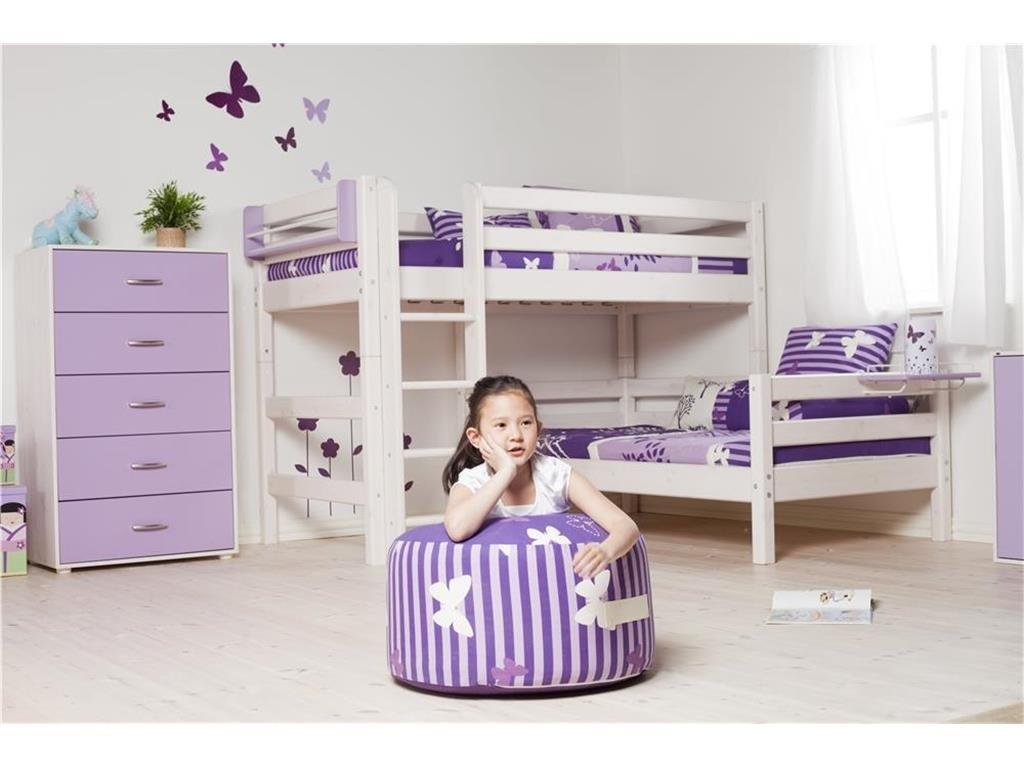 Flexa Kombi Etagenbett : Flexa classic kombi etagenbett 90x190cm mit gerader leiter weiß