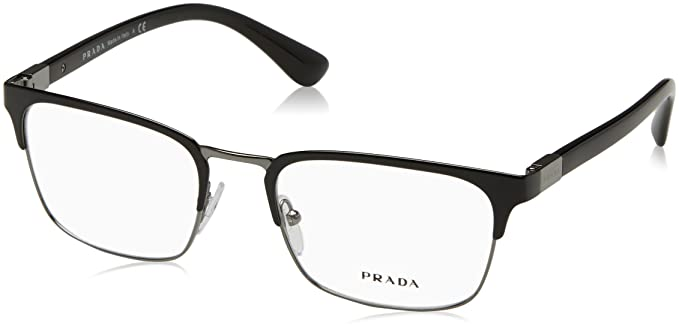 af945999e8b2 Amazon.com  Prada Men s PR 54TV Eyeglasses 53mm  Clothing