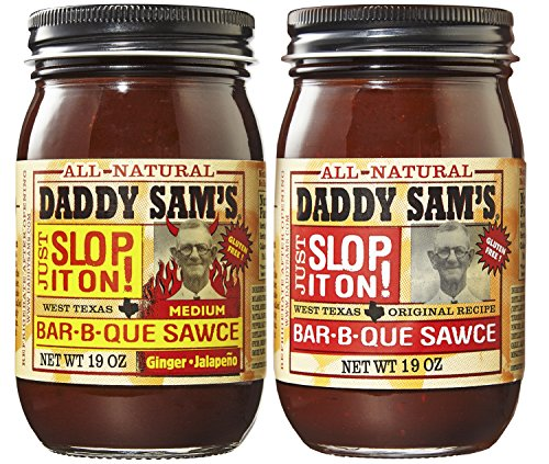 Daddy Sam's Original BBQ Sauce and Ginger Jalapeno BBQ Sauce Gluten Free (2 Jars)