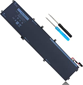 97Wh 6GTPY Laptop Battery Replacement for Dell XPS 15 9570 9560 9550 7590 Precision 5510 5520 5530 P56F P56F001 P56F002 P56F003 5XJ28 5D91C 5041C 4GVGH T453X 0T453X 1P6KD 01P6KD GPM03 11.4V 6-Cell