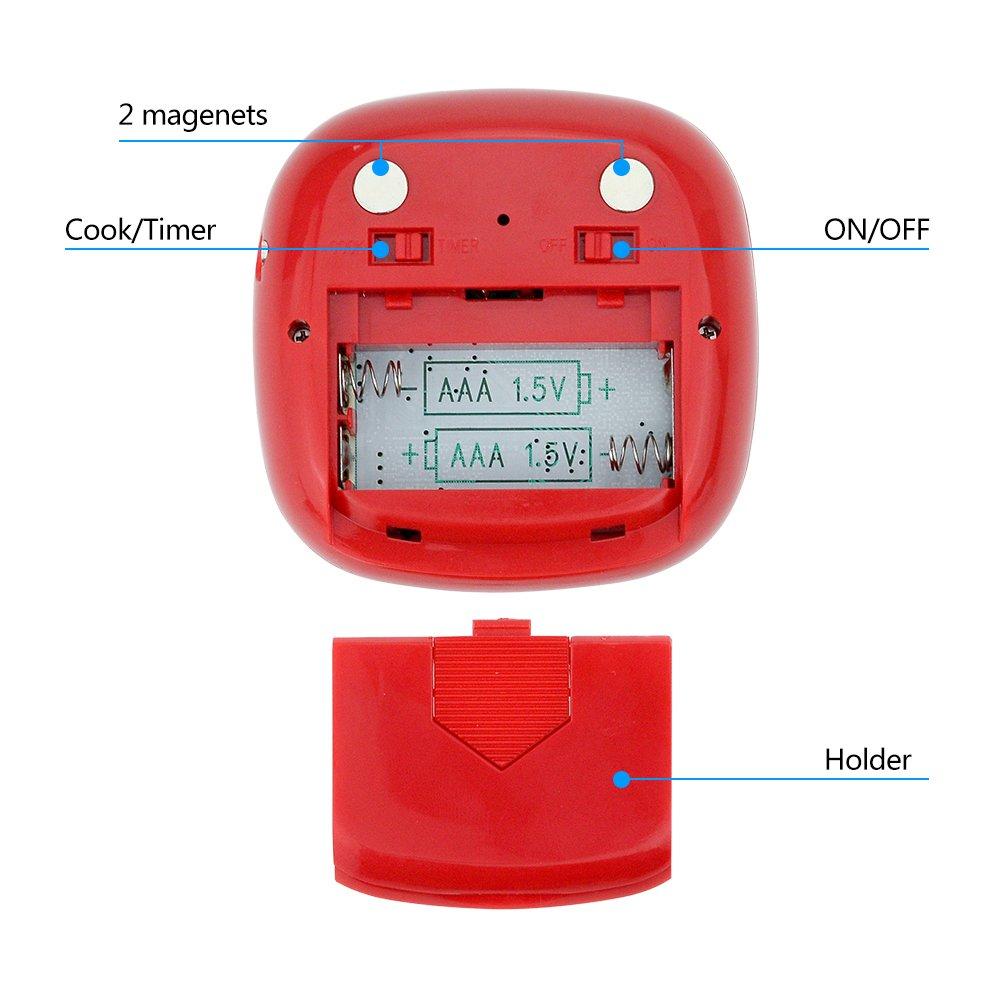 Fleisch-Thermometer mit Touchscreen und Digital-Kochen, der Timer ...