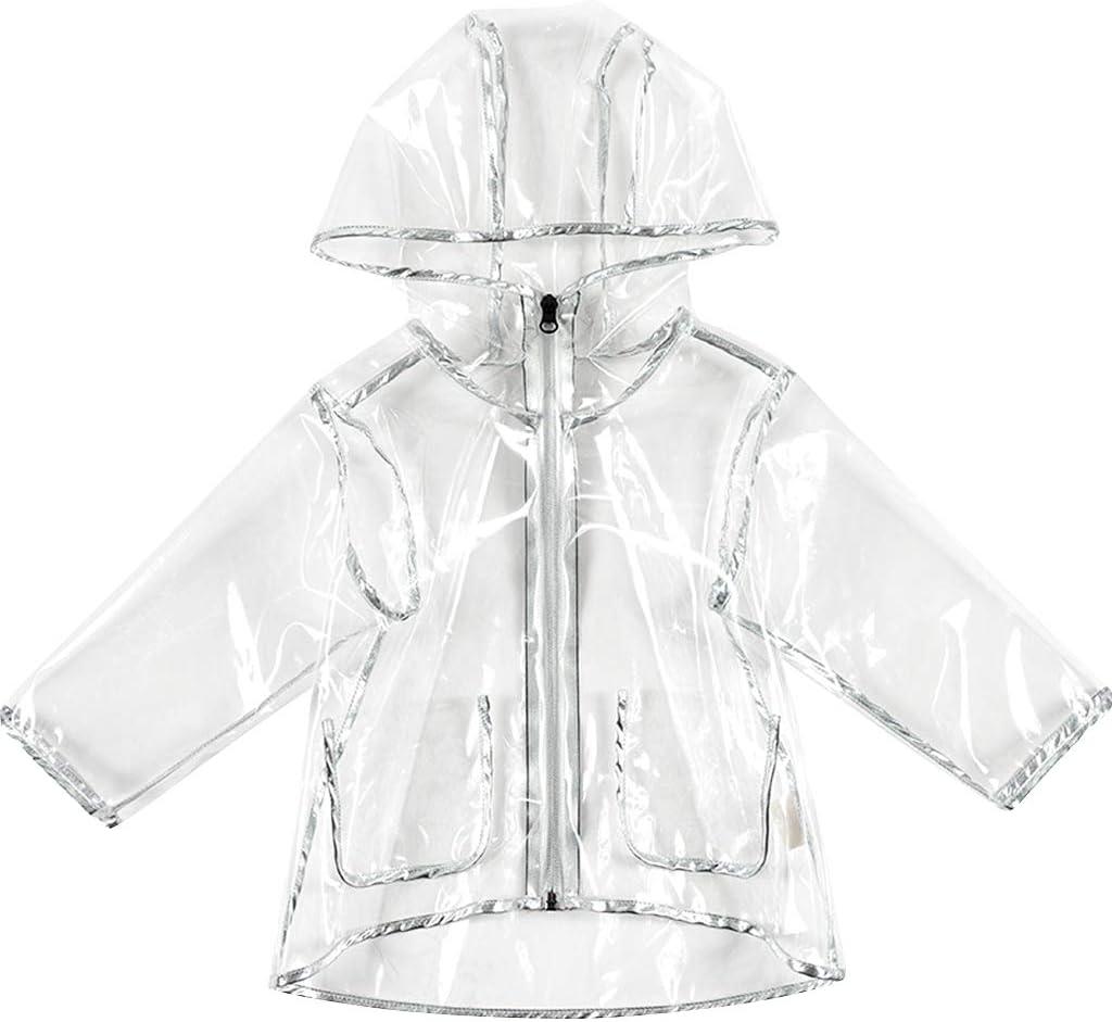Imperm/éable Veste Encapuchonn/é Manteau de Pluie R/éutilisable Raincoat pour Cyclisme Randonn/ée Camping Poncho Pluie Enfant Cape de Pluie Filles
