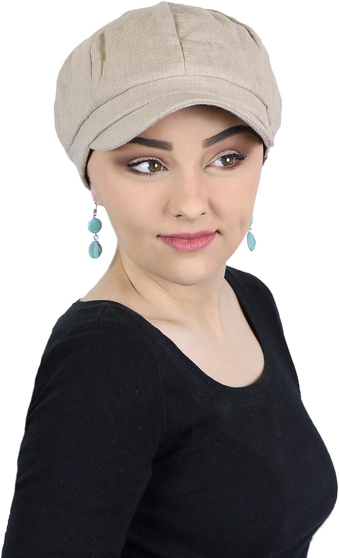 Newsboy Cap for Women Summer Hats Chemo Headwear Ladies Linen Cabbie Head Coverings Gatsby Belfast