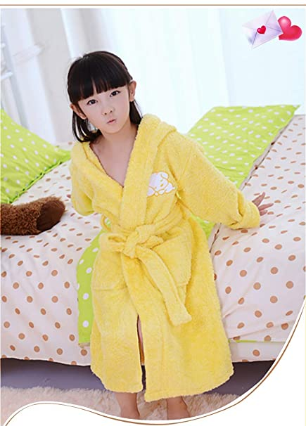 Lindas ropas de noche Batas de baño para niños, toalla de algodón, albornoz,