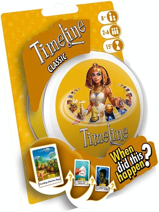 Timeline Card Game Set of 3: Classic /& Drawstring Bag and Events Inventions