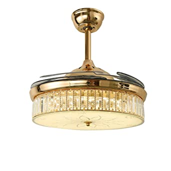 SADASD Modernes Minimalistisches 42 Zoll Geführtes Kristall Unsichtbares  Ventilator Licht Innenbeleuchtung Wohnzimmer Schlafzimmer