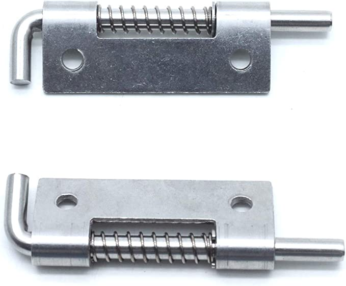 Pack of 8 1//2 Spring Pin Latch Lock Assembly for Utility Trailer Gate WorldPac Heavy Duty