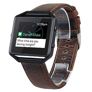 Para Fitbit bandas de Blaze, gotd - Accesorios de piel Para Muñeca Reloj Banda Correa Pulsera Para Fitbit Blaze reloj inteligente,: Amazon.es: Instrumentos ...