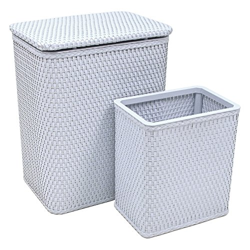 (RedmonUSA Redmon for Kids Chelsea Wicker Nursery Hamper and Matching Wastebasket,)
