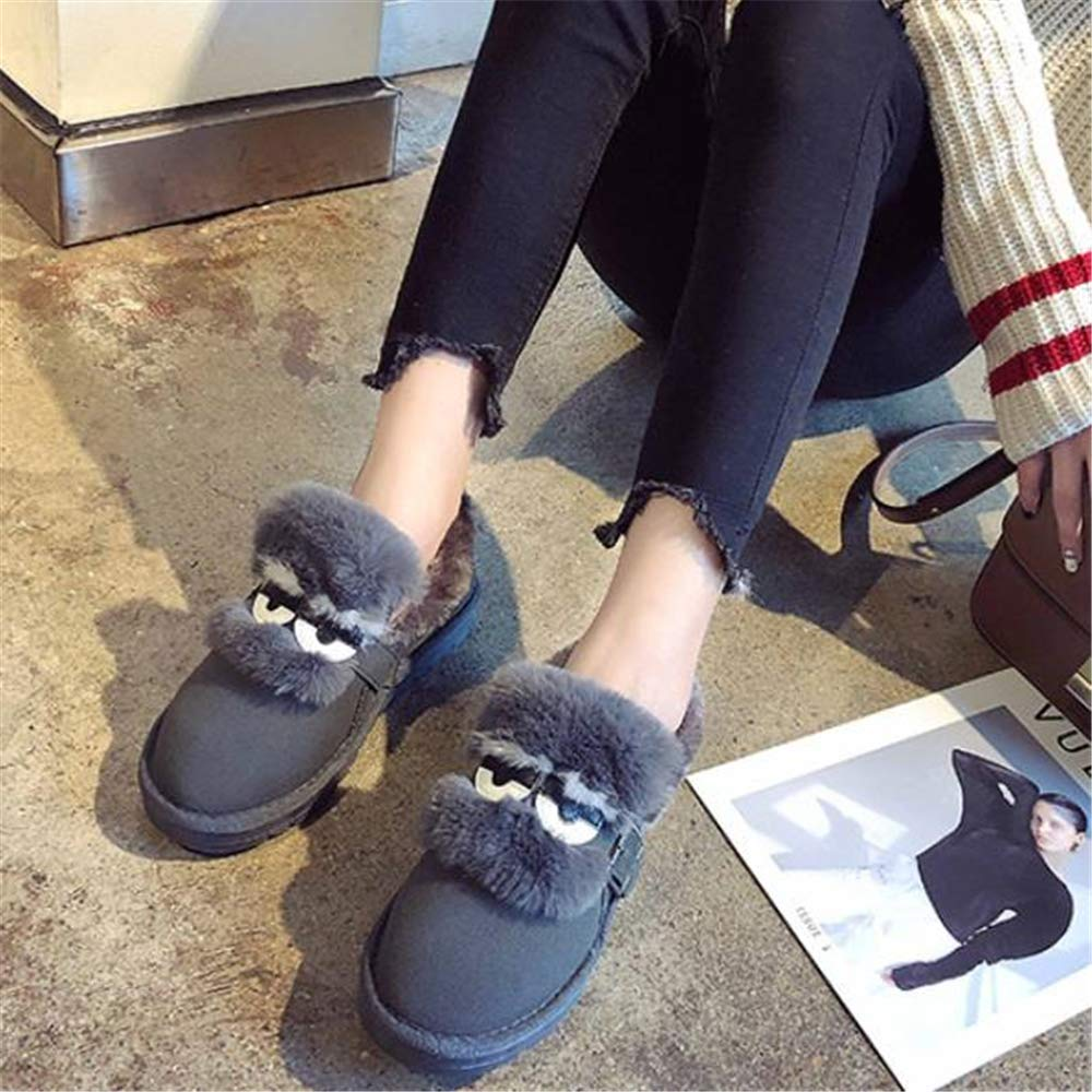 cici shoes Women Winter Thermal Knit Mute Slippers Soft Fleece Lined High Ankle Snow Boots Non-Slip Indoor House Shoes Floor Socks