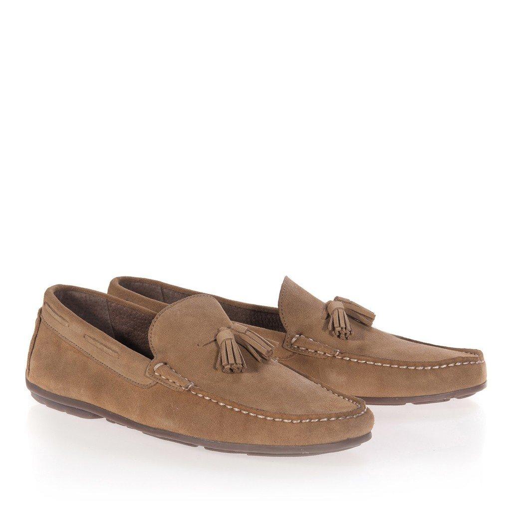 CASTELLANISIMOS Mocasines Hombre de Piel con Borlas Mushroom - Color - Mushroom, Tallas - 40: Amazon.es: Zapatos y complementos
