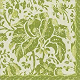 Caspari Plantation Print Green Floral Luncheon Paper Table Napkins 20 in a pack 33cm square