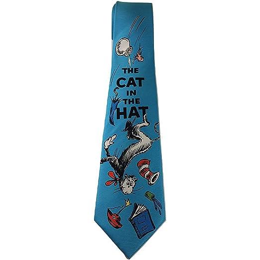 Dr Seuss Cat In The Hat Mayhem Blue Nueva Corbata Novedad: Amazon ...