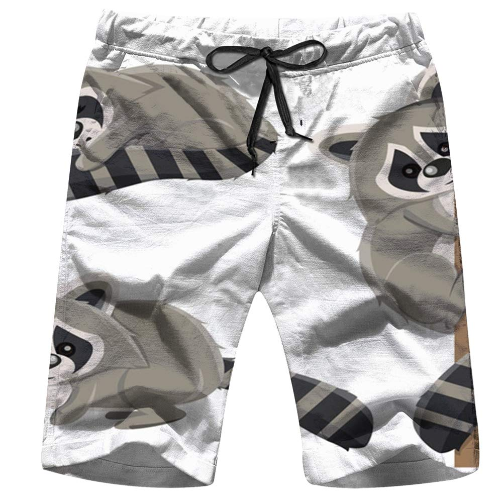 Mens Swim Trunks Summer Sea Anchor Boat Beach Board Shorts with Pockets Cool Novelty Bathing Suits for Teen Boys