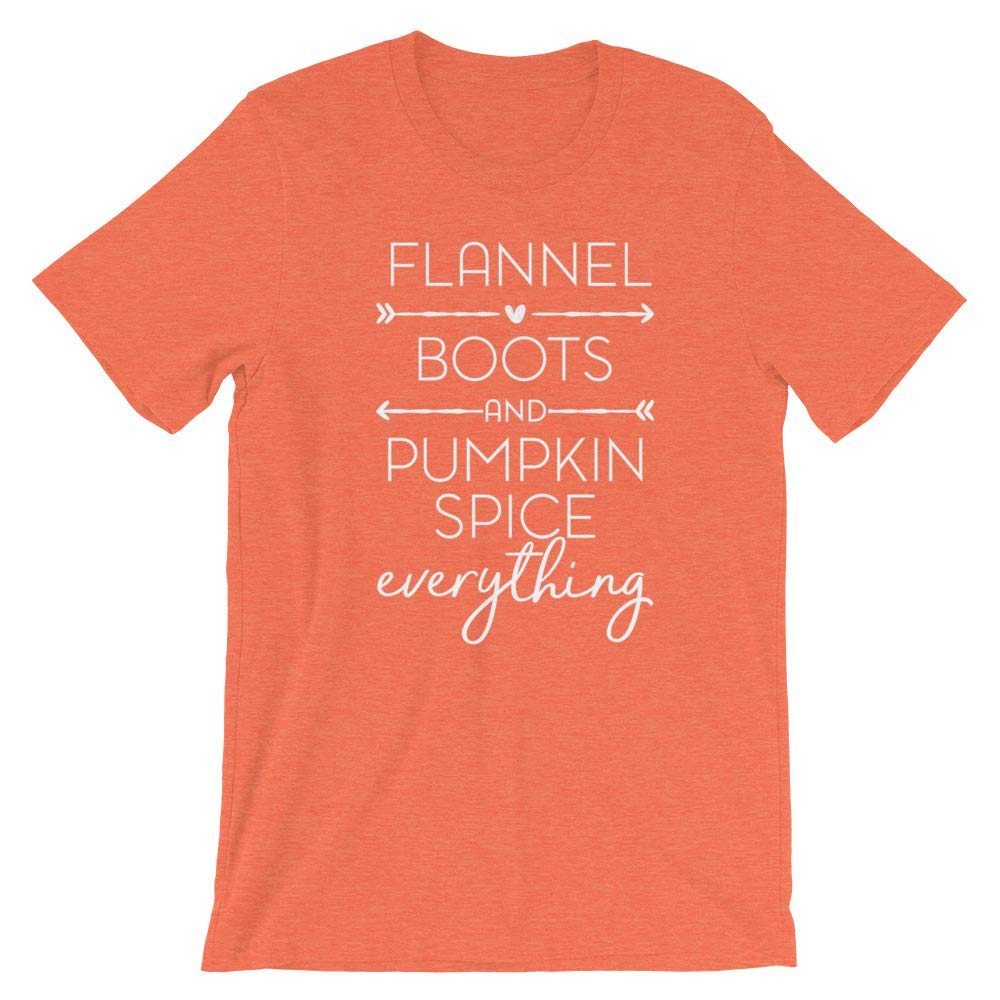 Flannel Boots and Pumpkin Spice Everything Short-Sleeve T-Shirt