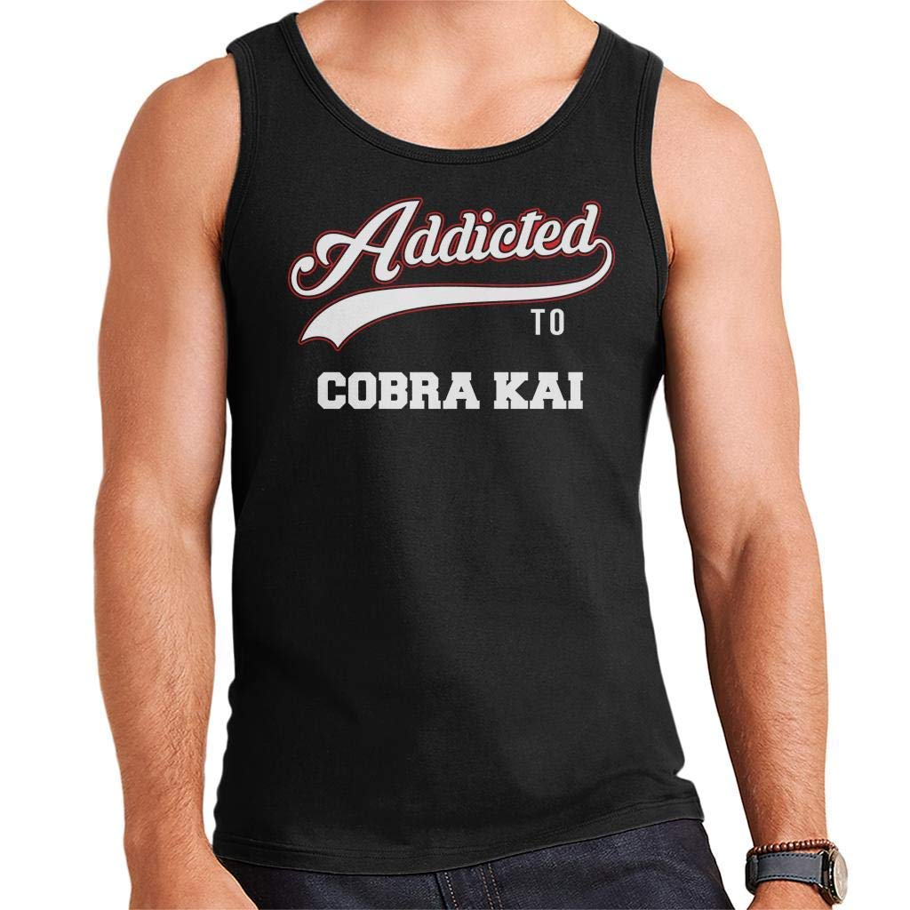 Addicted to Cobra Kai Baseball Text Mens Vest