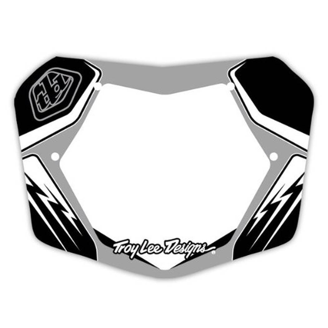 Troy Lee Designs TLD BMX Plate Silver/Black/White 10''