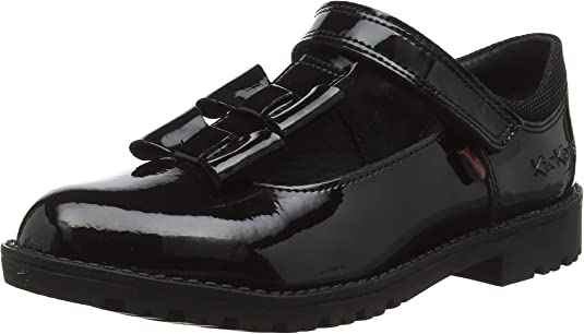 Kickers Lachly Bow T-Bar Patent Leather