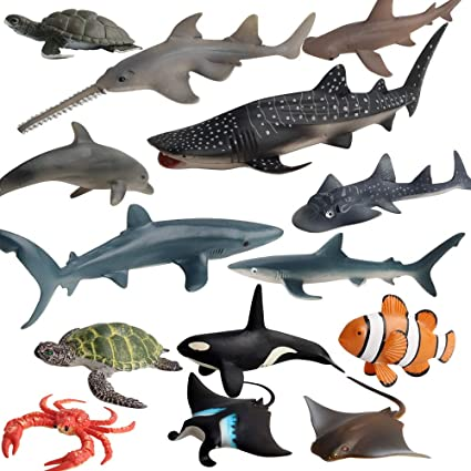 Whale Shark Realistic Sea Animal Model Figurine Kids Toy Decor Collection