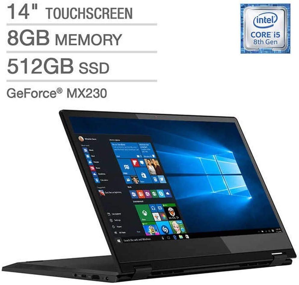 "Latest_Lenovo Flex 14"" LED-Backlit FHD Touch Display, 8th Generation Intel Core i5-8265U Processor, 8GB RAM, 512GB SSD, NVIDIA_GeForce MX230, Backlit Keyboard, Window 10"
