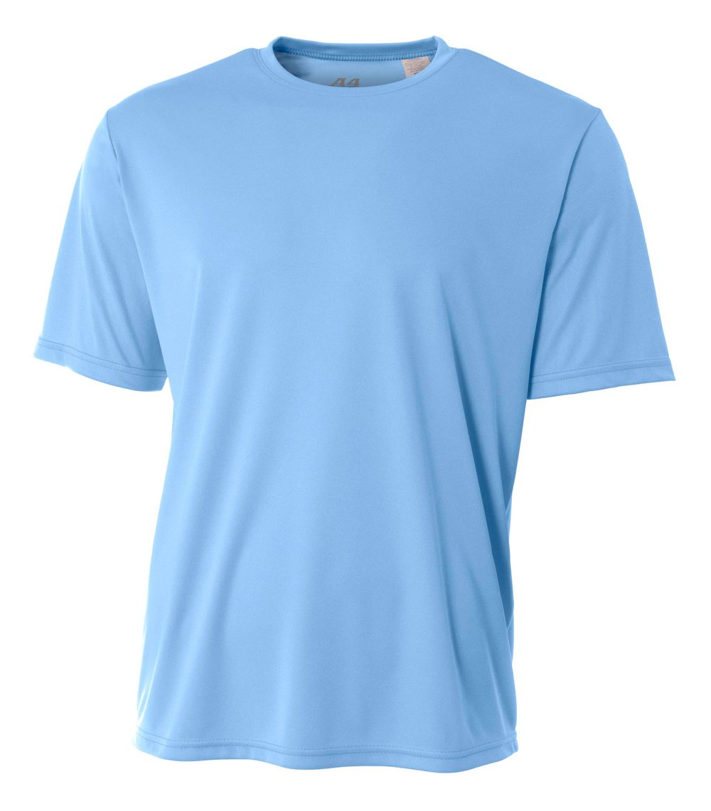 A4 Men's Cooling Performance Crew Short Sleeve, Light Blue, XX-Large by A4