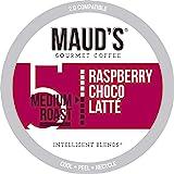 Maud's Raspberry Chocolate Coffee (Raspberry Choco Latte), 50ct. Solar Energy Produced Recyclable Single Serve Raspberry Choc