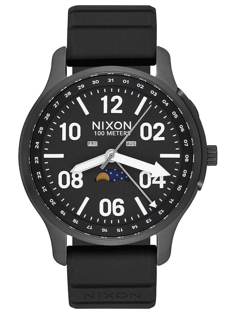 Nixon Men's Ascender Sport Watch, 44mm, Black, One Size