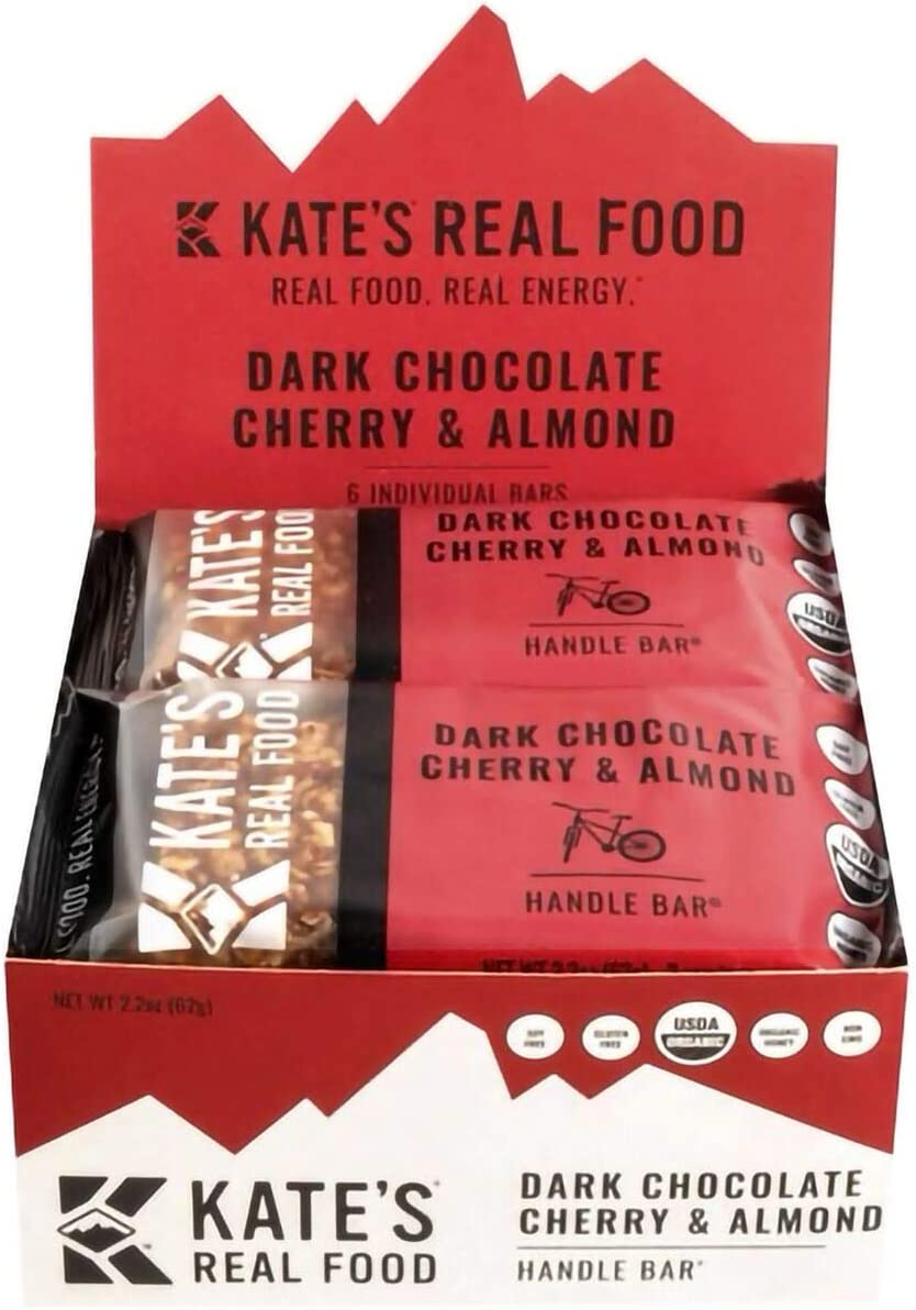 Kate's Real Food Handle Bars - 6-Pack Dark Chocolate, Cherry & Almond, One Size
