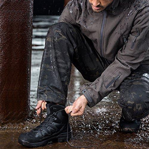 Stivale Tattico Militare Da Uomo Outdoor Outdoor Stivale Ultra Invernale Da Trekking Medio Nero + Pelle Scamosciata
