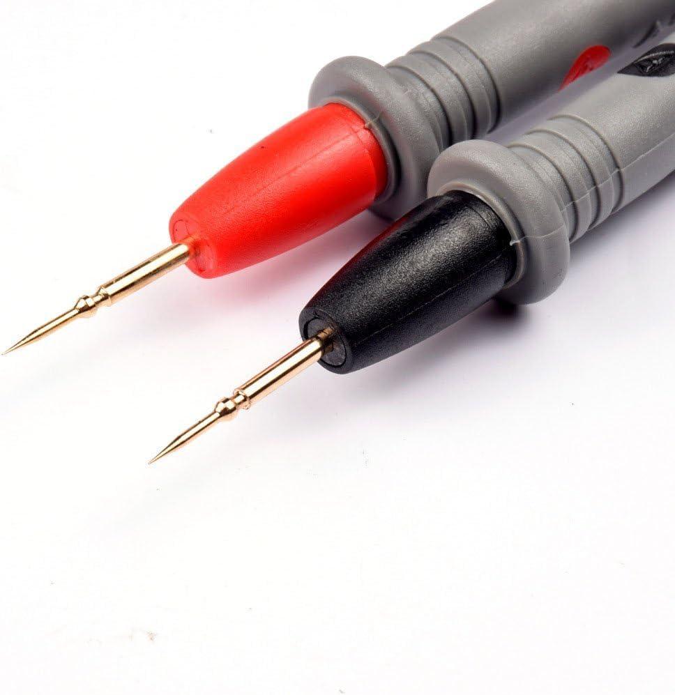 Owikar multim/ètre fils de test g/én/éral Utility Aiguille Test Pen 1000/V Plaqu/é or Cuivre Sonde broches universel Digital testeur de m/ètre Fil Pen c/âble 20/A
