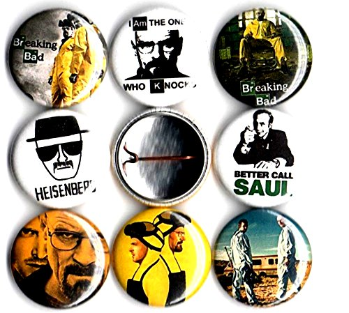 Jesse Breaking Bad Halloween Costume (Breaking Bad 8 NEW 1 inch pins buttons badges heisenberg)