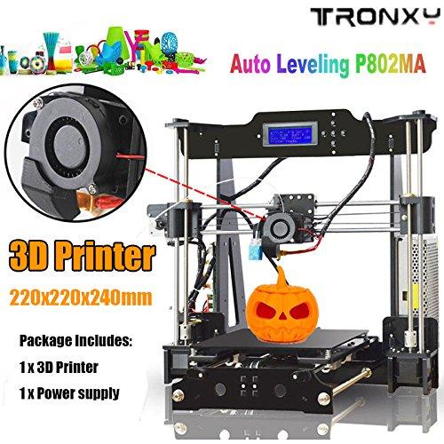 Auto Levelling P802MA High Precision Desktop 3D Printer Kits by TRONXY    Educational Desktop 3D Printer Full Metal Kits with Self Levelling Sensor,
