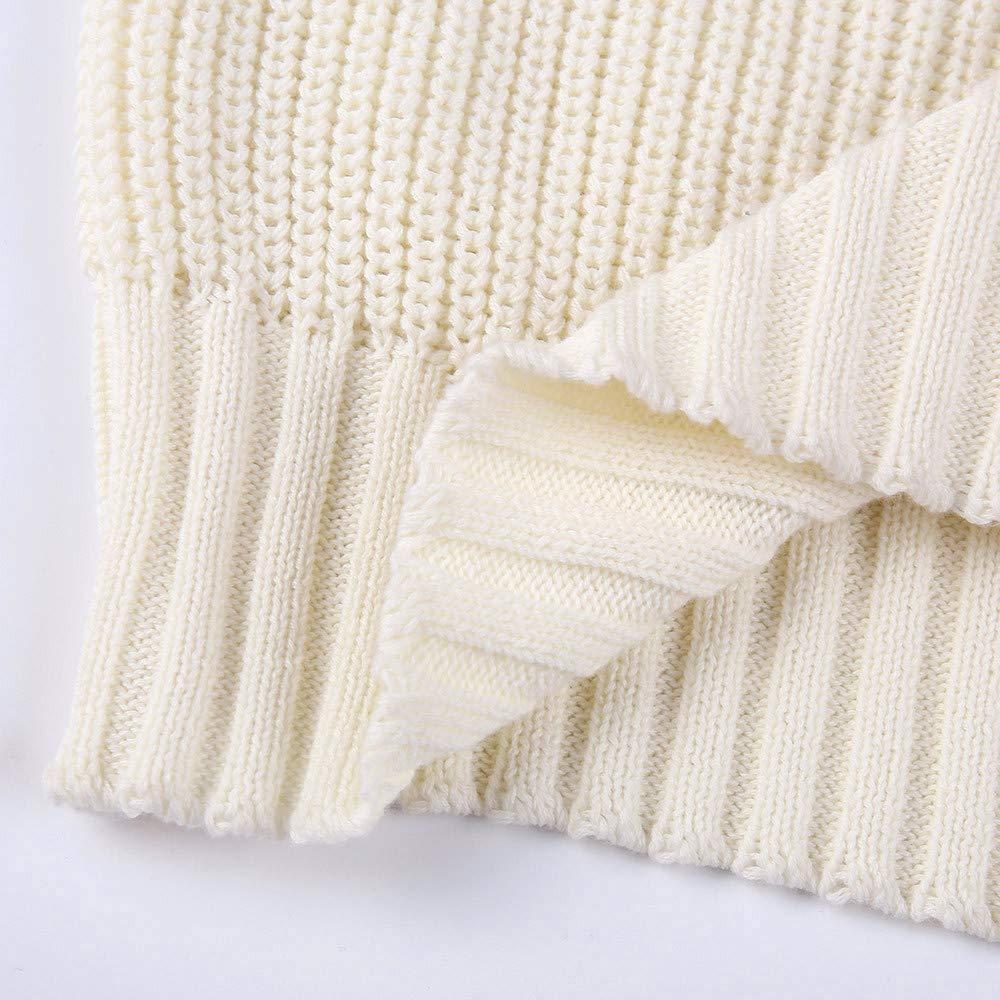 Aberimy Damen Pullover Sweater Teenager M/ädchen Rollkragen Solide Gestrickt Strickpullover Herbst Winter Sweatshirt Pullover Pulli Warmer Frauen Winterpullover Oberteile