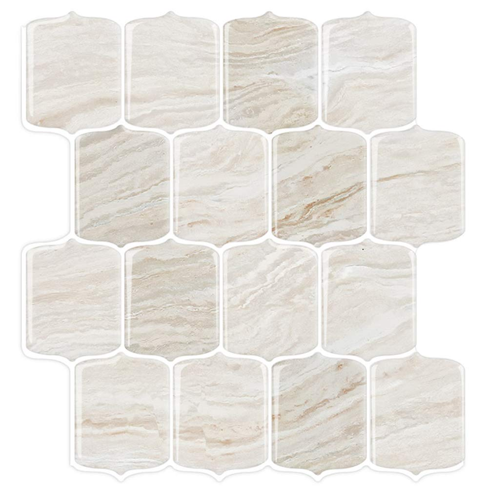 STICKGOO Marble Look Peel and Stick Backsplash Tile, Stick on Tiles for Kitchen Backsplash, Peel and Stick Tile in Shale (Pack of 5, Thicker Design) by STICKGOO