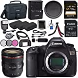 Canon EOS 5DS 5D S DSLR Camera + EF 24-70mm f/4L IS USM Lens + LPE-6 Lithium Ion Battery + Sony 128GB SDXC Card + Canon W-E1 Wi-Fi Adapter + 77mm 3 Piece Filter Kit Bundle