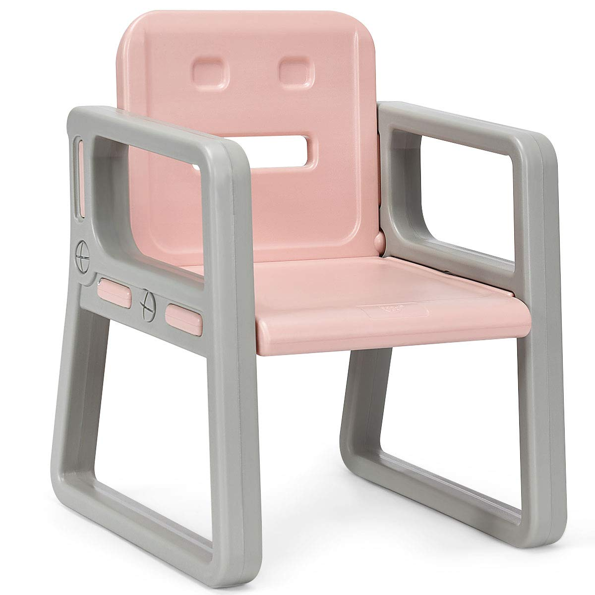 Costzon 3 Piece Kids Table and 2 Chairs Set, Learning Activity Play Table, Baby Dining Table, Children Desk Chair for 1-3 Years, Kids Furniture Set (Pink) by Costzon (Image #6)