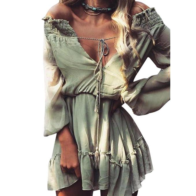 La mujer vestido,Sonnena ❤ ❤ ❤ Vintage Color sólido Suelto suave