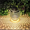 Solar Lanterns Outdoor Hanging, Solar Lights Outdoor Decorative for Garden Patio Yard Lawn and Tabletop