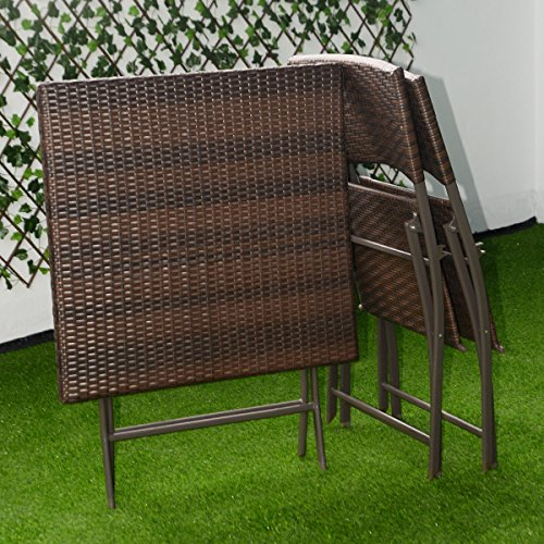 Outdoor Wicker Patio Table And Chairs: Patio Bistro Outdoor Folding Table And 2 Chairs Furniture