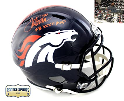 Terrell Davis Autographed Signed Denver Broncos Full Size NFL Speed ... 3dd142033